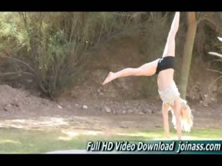 bella naked yoga instruction movie scene