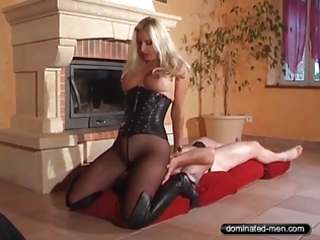 take up with the tongue panty - tease and denial