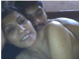 indian housewife having enjoyment with boyfriend