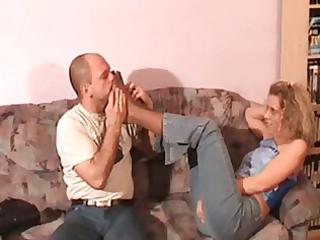 smelling claudias feet