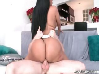 hawt brunette hair honey with great butt receives