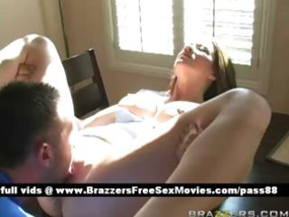 older blond playgirl on the table receives her