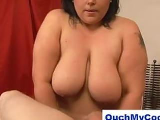 dark brown big beautiful woman gives chap a harsh