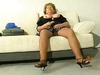 overweight aged cougar receive lascivious
