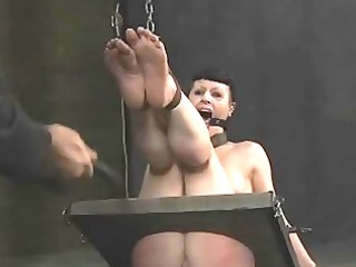 torturing gal with sex toys