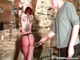 lewd tattooed gal got spanked badly part0