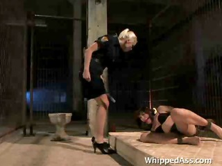behind a sexy lesbo fetish scene