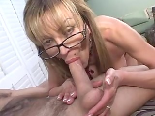 mature busty blond sucks big dick
