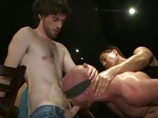 muscle blindfolded homo fuckfest drilled