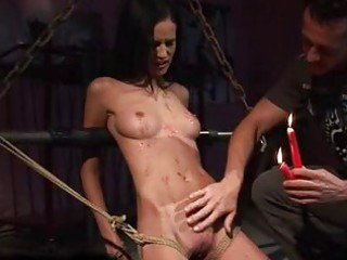 cute legal age teenager being painfully punished