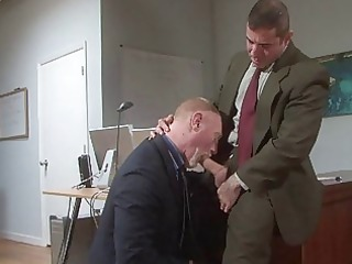old homosexual boys fuck in office