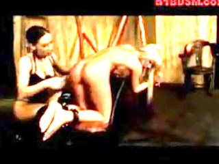 lesbo female-dom at play with her love serf !
