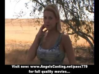 handsome blond hitchhiker does fellatio and