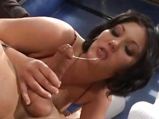 dark brown hottie claire dames is nailed in the