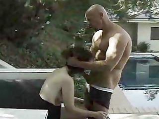 dark brown d like to fuck sucks boner outside