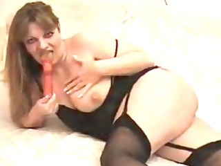 astonishing mother i whore toys her cunny in dark