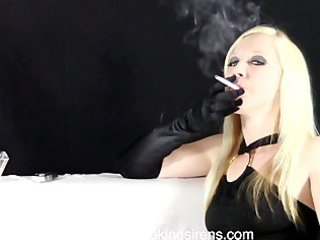 callie dark gown cigarette example movie scene