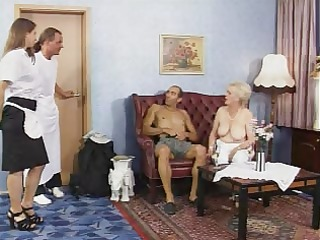 older - german spruce grannies im auto vernascht