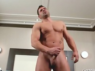 rock hard muscled lad beating off part10