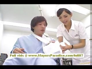 rio sexy oriental nurse acquires bare and playing