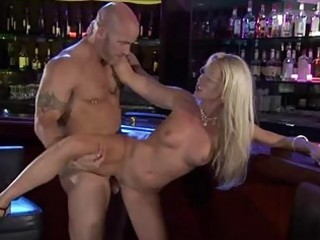 breasty blond bitch acquires her bald beaver