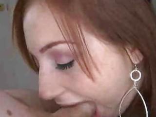 charming redhead blojob honey
