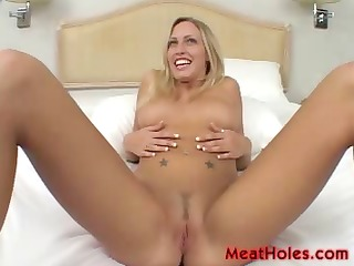 blond cassie juvenile plays with old cocks