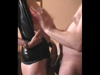 mrs b latex hard titslapping &; o