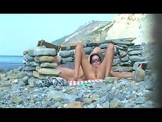 teasing beach floozy