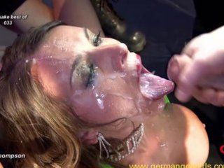 Nasty German chicks in hardcore bukkake orgies