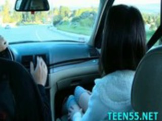 naughty legal age teenager rides older penis