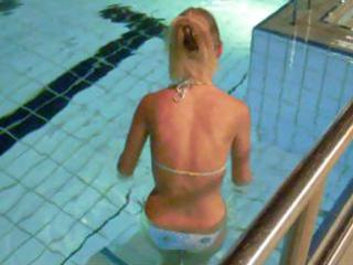 following a hawt blondie into the pool showers