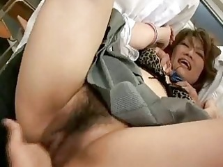 lewd japanese teacher receives drilled and