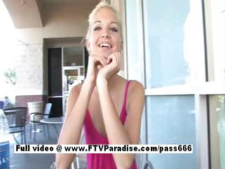 franziska humorous blond flashing in public