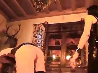 a femdom-goddess tortures her abode bondman