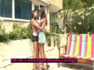 zafira and cherie lusty lesbian gals licking