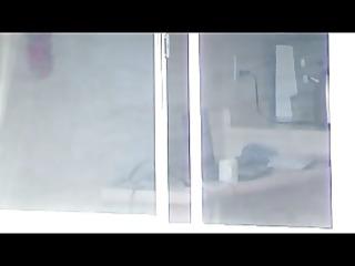 window voyeur: legal age teenager in nature