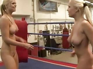 wild breasty blondes fighting