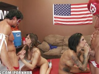 sexually excited dark brown lesbian babes acquire