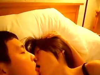 oriental pair make out session