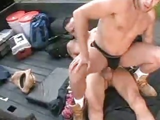 sexy homosexual fuck in the back of a pick up