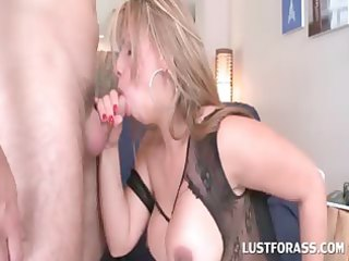 blond in hose receives throat nailed