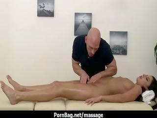a immodest masseur gives a gal a massage 90