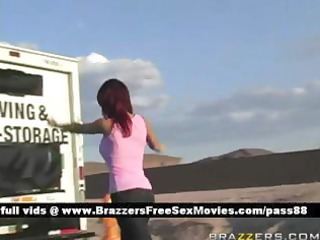 juvenile breasty redhead beauty acquires a ride