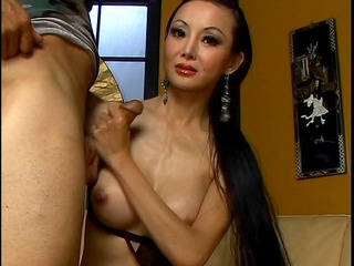 oriental takes a 37 inch jock in her arse