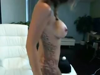hot beauty rides the fuck machine