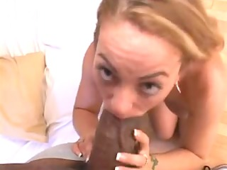 white gal getting stretched to the max