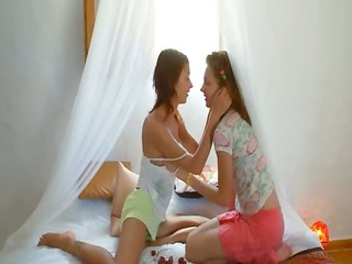 eager spanish lesbian snatch eating