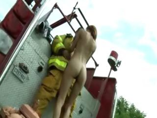 good redhead copulate with youthful fireman