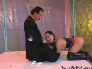 rebecca linares riding on dick whilst on latex